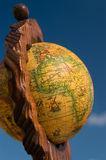 Globe map, Africa Royalty Free Stock Images