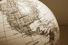 Globe map america Royalty Free Stock Photography
