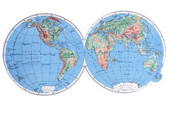 Globe map illustration. A globe illustration in a white background Royalty Free Stock Photography