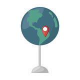 Globe map location continent. Vector illustration eps 10 Royalty Free Stock Photos