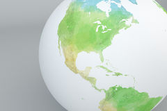 Globe map of North America, relief map Stock Photos