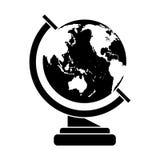 Globe map school design pictogram Royalty Free Stock Photography