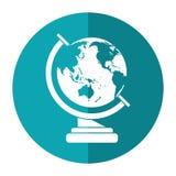 Globe map school design shadow Royalty Free Stock Image