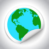 Globe map sticker Royalty Free Stock Photo