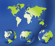 Globe map of the world Royalty Free Stock Photos