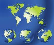 Globe map of the world Royalty Free Stock Photos