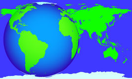 Globe and map Royalty Free Stock Photo