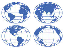 Globe maps Royalty Free Stock Images