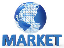 Globe Marketing Shows Global Planet And Advertising. Globe Marketing Meaning Globalization Sales And Global Stock Photos