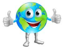 Globe mascot character Royalty Free Stock Image