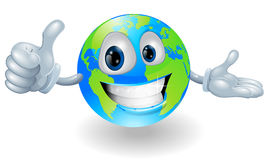 Globe mascot giving a thumbs up Stock Photo