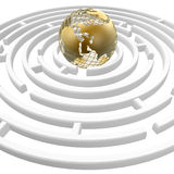 Globe in maze royalty free stock images