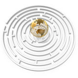 Globe in maze Stock Photos