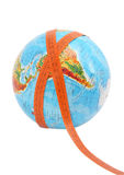 Globe with meashure. Tape on it Royalty Free Stock Image