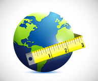 Globe and measure tape illustration design Royalty Free Stock Photo