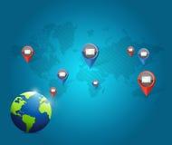 globe media communication network Royalty Free Stock Image