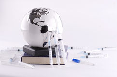 Globe and Medical Equipments Stock Photos