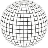 Globe Meridian and longitude Stock Photography