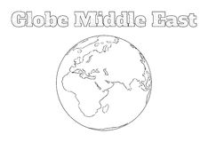 Globe Middle East view Stock Photos