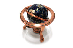 Globe Model Copper on white background Royalty Free Stock Images