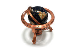 Globe Model Copper on white background Royalty Free Stock Image
