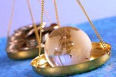 Globe and money Stock Photography