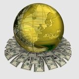 Globe and money Royalty Free Stock Images
