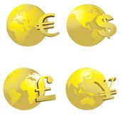 Globe and money symbol Royalty Free Stock Image