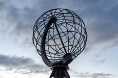 Globe monument at the North Cape royalty free stock image