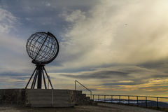 Globe monument at Nordkapp Royalty Free Stock Photography
