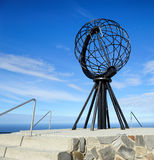 Globe monument at Nordkapp, the northernmost point of Europe, No. NORDKAPP, NORWAY -  Globe monument at Nordkapp, the northernmost point of Europe Royalty Free Stock Photos