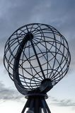 Globe monument at the North Cape stock image