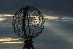 Globe monument at the North Cape Stock Photography