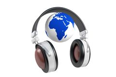 Globe and music Royalty Free Stock Image