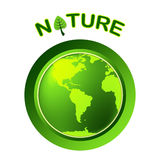 Globe Natural Shows Globalize Earth And Worldwide Stock Images