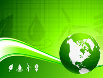 Globe on Nautre Green Background Royalty Free Stock Images