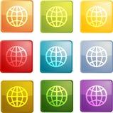Globe navigation icon Stock Photography