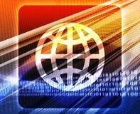 Globe navigation icon concept Royalty Free Stock Image