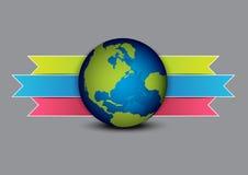 Globe and navigation menu Stock Photo