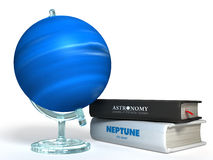 Globe of Neptune 3D Royalty Free Stock Images