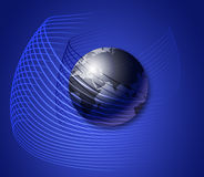 Globe in the net Royalty Free Stock Image
