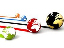 Globe network connection Stock Photos