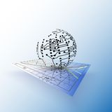 Globe network connections on the chart. Abstract Stock Images