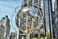 Globe in New York. Globe near Broadway and Columbus Circle. Manhattan, New York royalty free stock photos