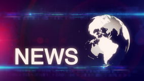 Globe News background generic stock video footage