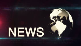 Globe News background generic stock footage