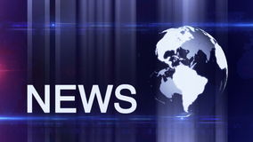 Globe News background generic stock footage