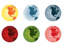 Globe - north america Stock Photo