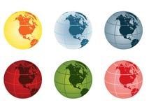 Globe - north america. Globe  illustration - north america Stock Photo