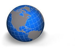 Globe, North America. Semi transparent globe with grid - North America view. Other views available in this series Royalty Free Stock Photography